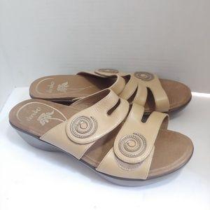 """Dansko """"Dixie"""" full grain leather Sandals"""